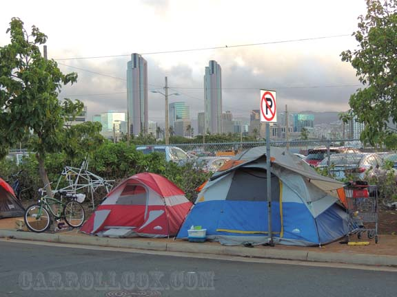 High and low - the red tape of living in the city & THE CARROLL COX SHOW - Homeless in Hawaii